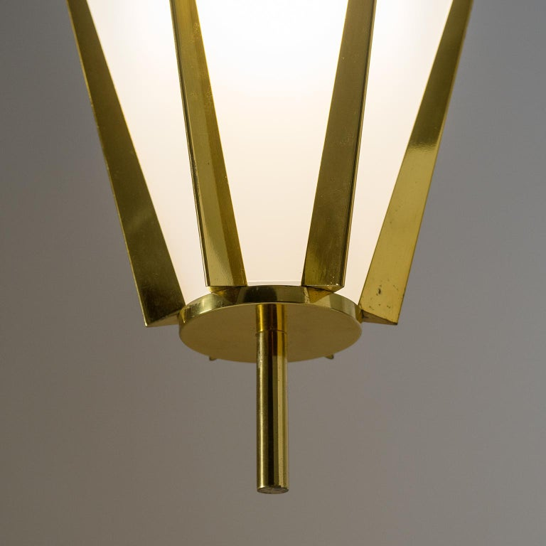 Rare Pair of French Modernist Lanterns by Arlus, circa 1960 In Good Condition For Sale In Vienna, AT