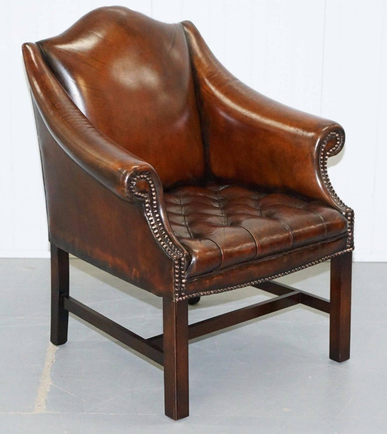 Rare Pair of Fully Restored Chesterfield Whiskey Brown ...