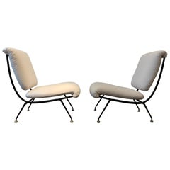 Rare Pair of Gastone Rinaldi DU24 Low Chairs, 1956