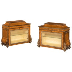 Rare Pair of George III Period Kingwood Table Cabinets
