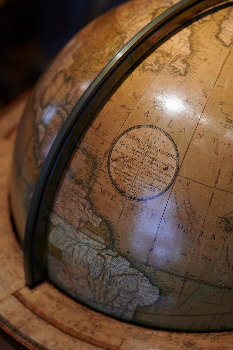 Early 19th Century Rare Pair of Globes, London 1816/1828, John and William Cary For Sale