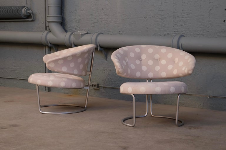 Scandinavian Modern Rare Pair of Grete Jalk Easy Chairs, 1960s For Sale
