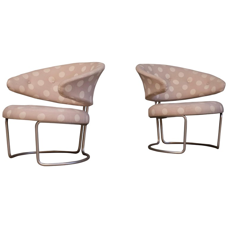 Rare Pair of Grete Jalk Easy Chairs, 1960s For Sale