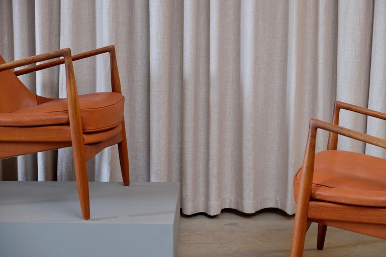 Mid-20th Century Rare Pair of Ib Kofod-Larsen Seal or Sälen Easy Chairs, 1960s For Sale