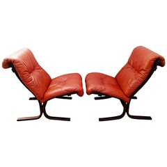 Rare Pair of Ingmar Relling Siesta Armchairs by Westnofa, Norway, 1960s