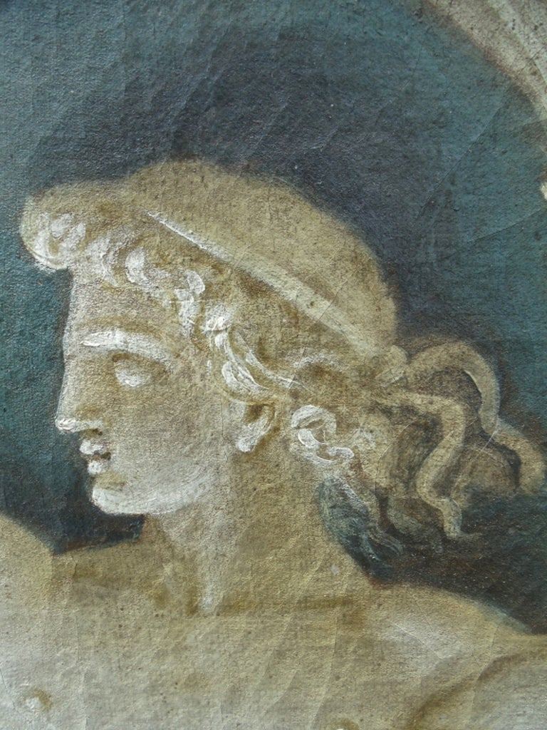 Rare Pair of Italian 18th Century Neoclassical Grisaille Panels For Sale 6