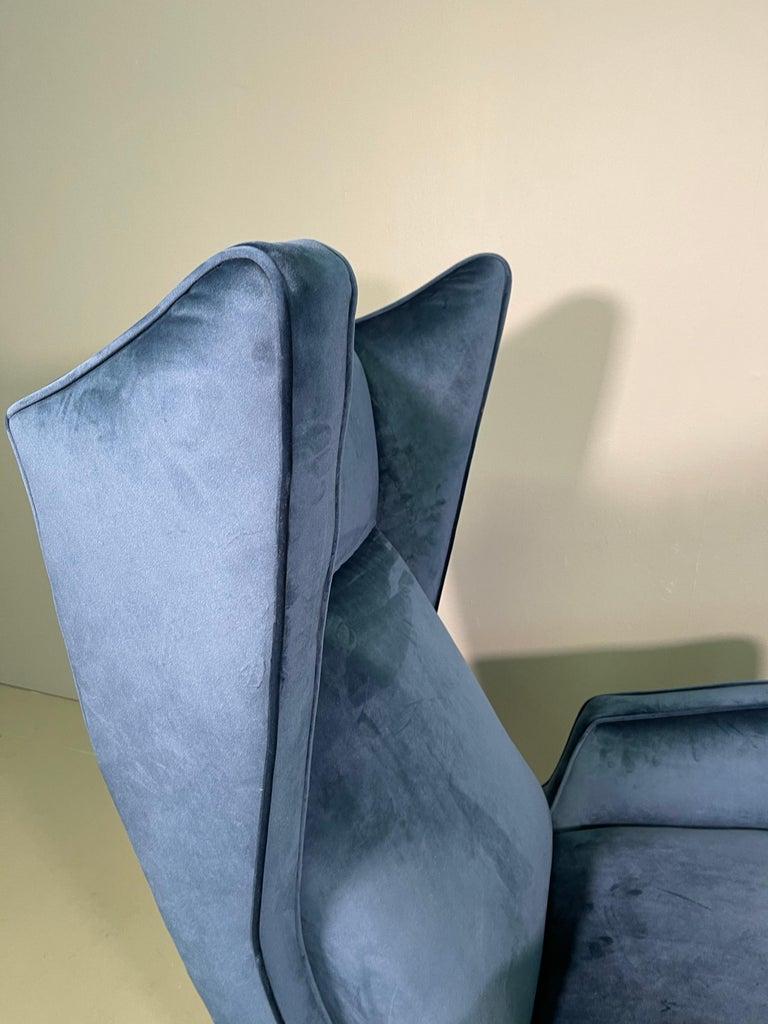 Rare Pair of Italian Armchair by Mario Oreglia For Sale 5