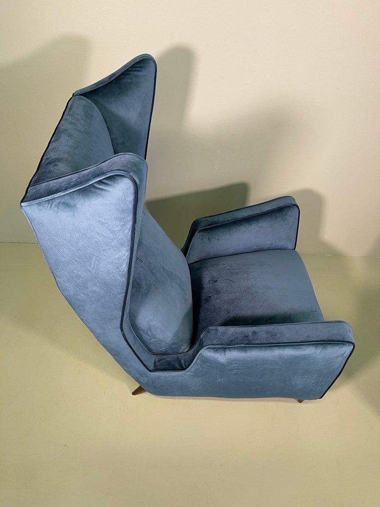 Rare Pair of Italian Armchair by Mario Oreglia For Sale 6