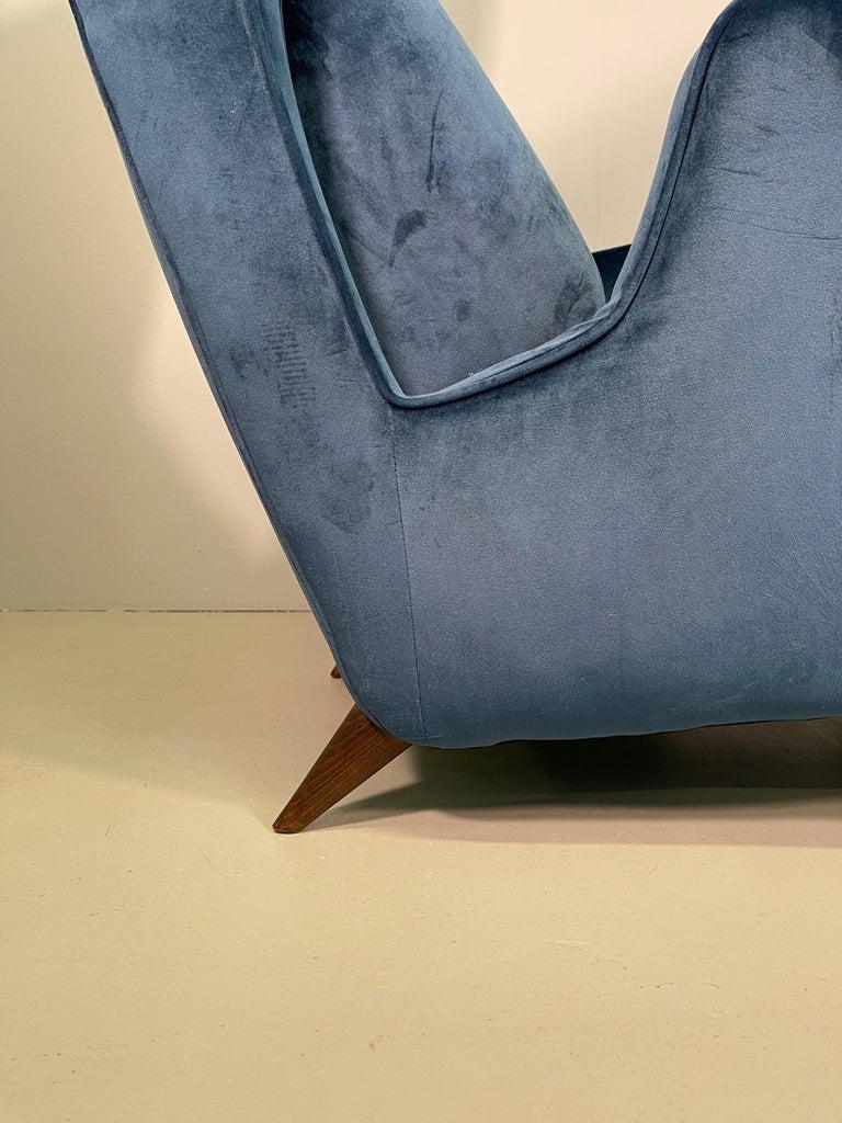 Rare Pair of Italian Armchair by Mario Oreglia For Sale 7