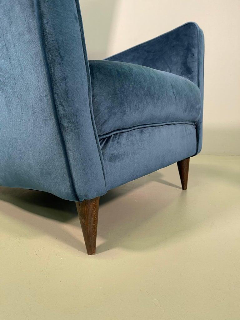 Rare Pair of Italian Armchair by Mario Oreglia For Sale 8