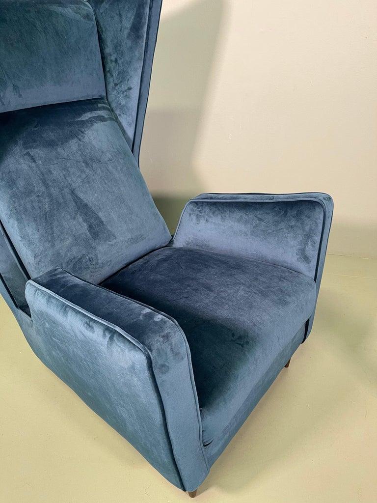Rare Pair of Italian Armchair by Mario Oreglia For Sale 9