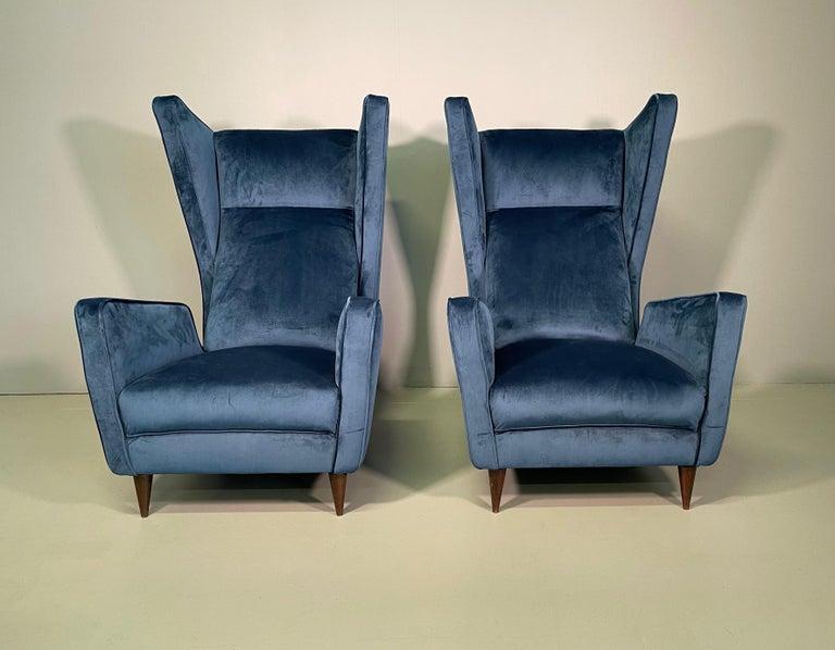Rare Pair of Italian Armchair by Mario Oreglia In Excellent Condition For Sale In Rovereta, SM