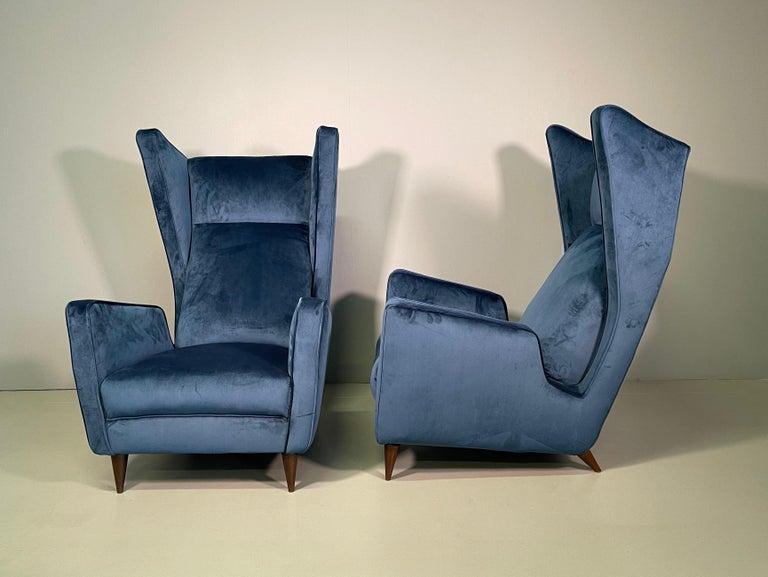 20th Century Rare Pair of Italian Armchair by Mario Oreglia For Sale
