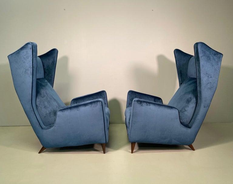 Wood Rare Pair of Italian Armchair by Mario Oreglia For Sale