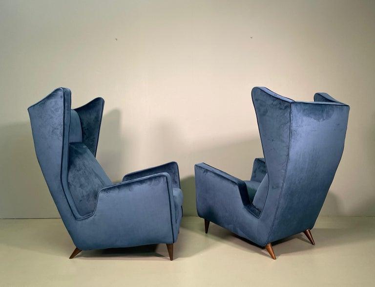 Rare Pair of Italian Armchair by Mario Oreglia For Sale 1