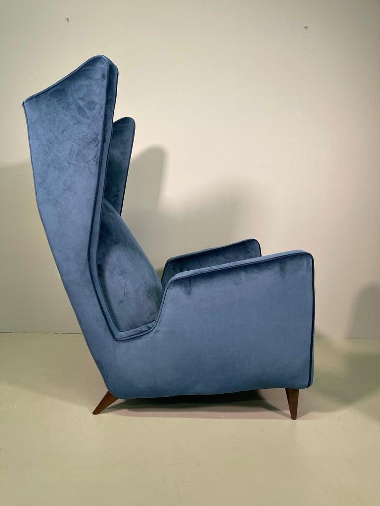 Rare Pair of Italian Armchair by Mario Oreglia For Sale 2
