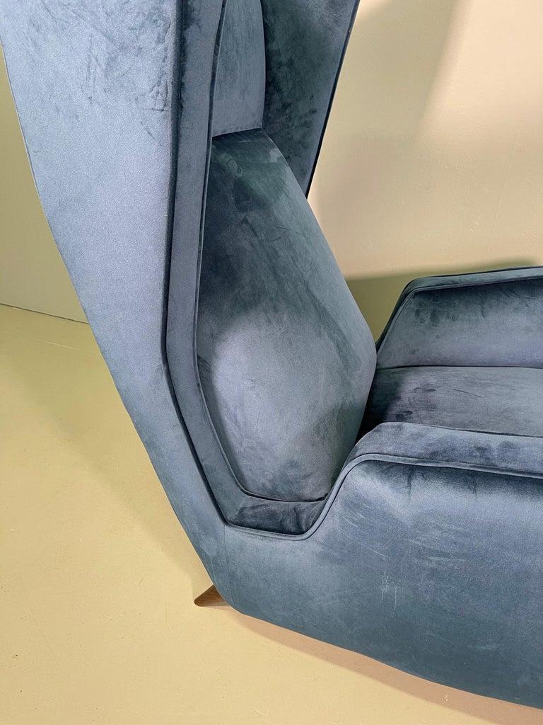 Rare Pair of Italian Armchair by Mario Oreglia For Sale 3