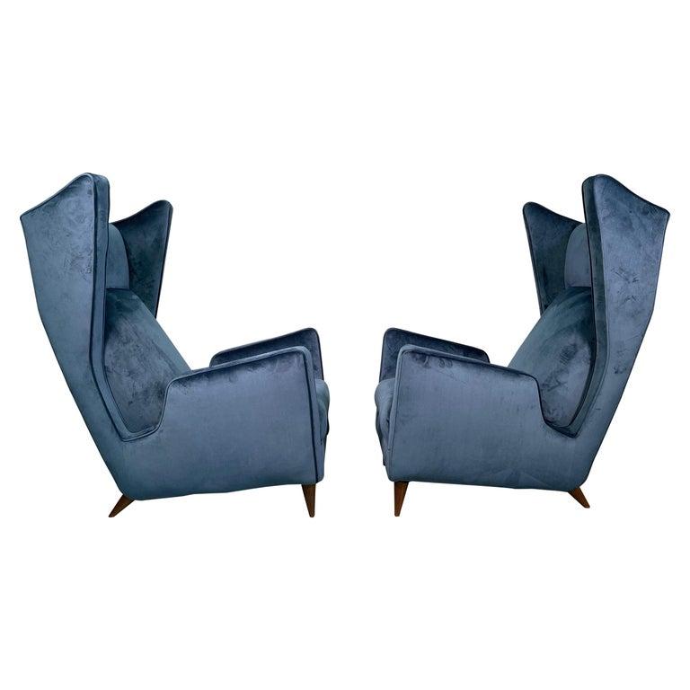 Rare Pair of Italian Armchair by Mario Oreglia For Sale
