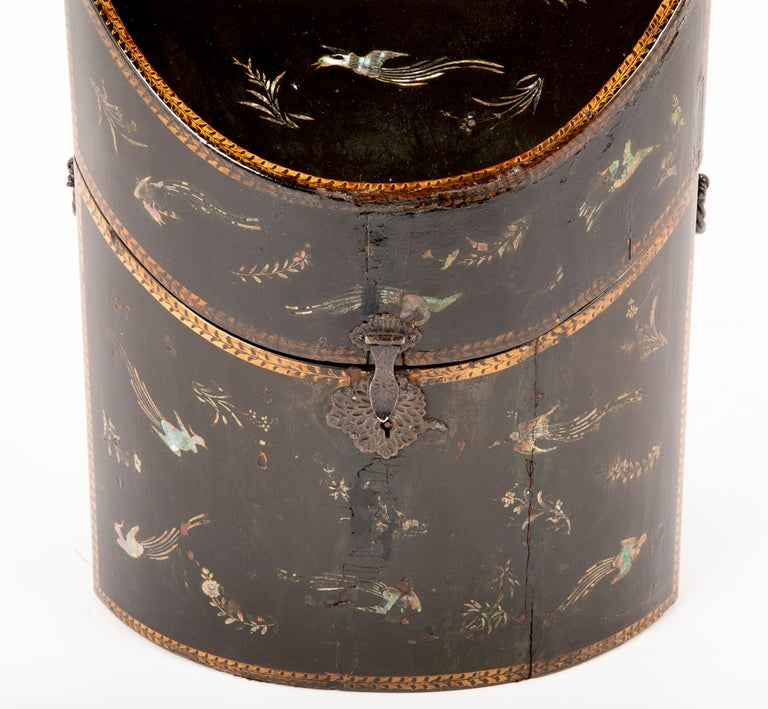 19th Century Rare pair of Japanese Nagasaki Export Lacquered Wood Knife Boxes For Sale