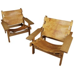 Rare Pair of Kurt Østervig Hunting Chairs from Denmark, 1960s