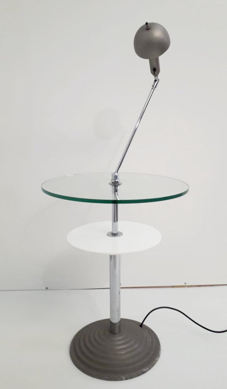Mid-Century Modern Rare Pair of Lamp Tables by Fontana Arte For Sale