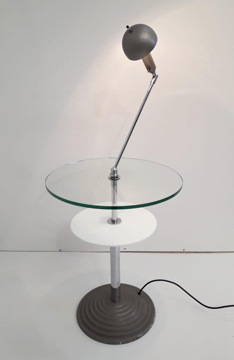 Rare Pair of Lamp Tables by Fontana Arte In Good Condition For Sale In Palm Springs, CA