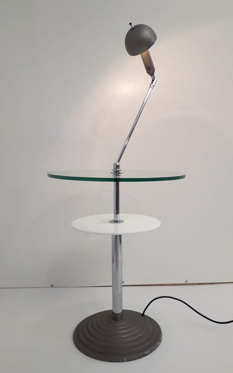 20th Century Rare Pair of Lamp Tables by Fontana Arte For Sale