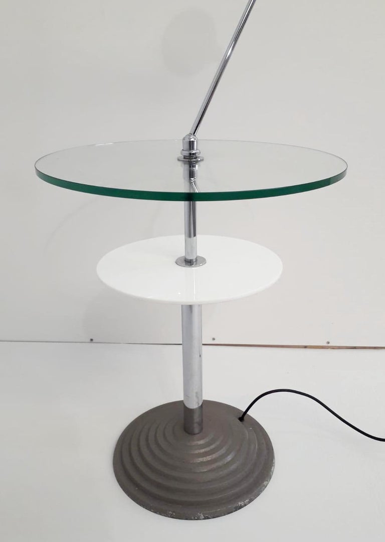 Metal Rare Pair of Lamp Tables by Fontana Arte For Sale