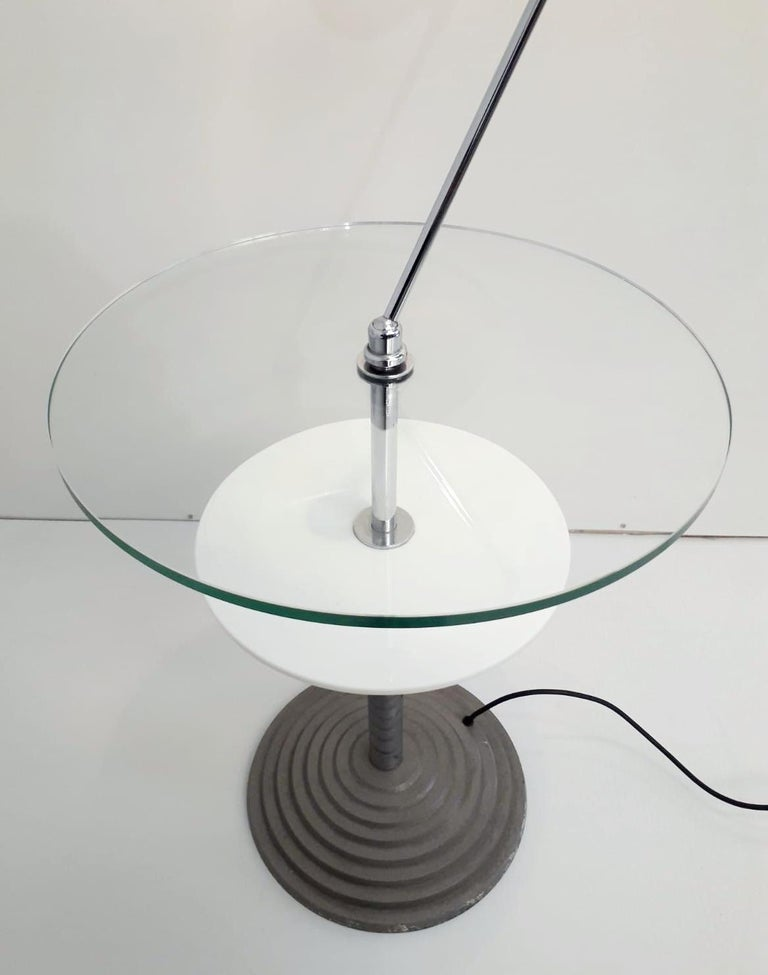Rare Pair of Lamp Tables by Fontana Arte For Sale 1