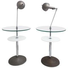 Rare Pair of Lamp Tables by Fontana Arte