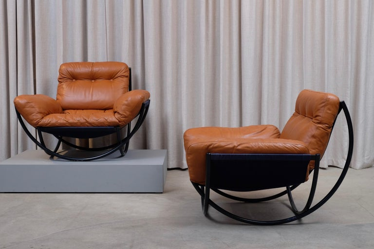 Rare Pair of Lennart Bender Easy Chairs, 1960s For Sale 4