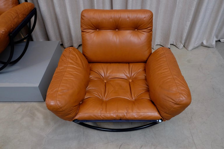 Rare Pair of Lennart Bender Easy Chairs, 1960s In Good Condition For Sale In Stockholm, SE
