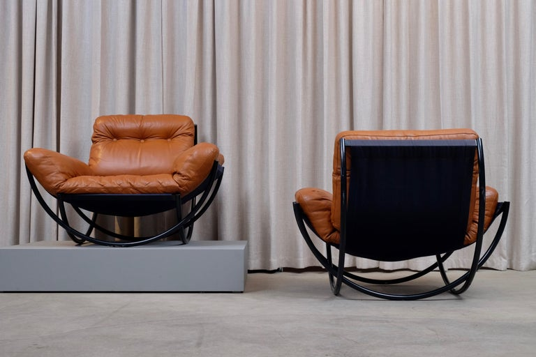 Rare Pair of Lennart Bender Easy Chairs, 1960s For Sale 1