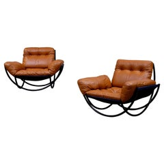 Rare Pair of Lennart Bender Easy Chairs, 1960s