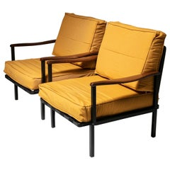 Rare Pair of Lounge Chairs Model P24 by Osvaldo Borsani for Tecno