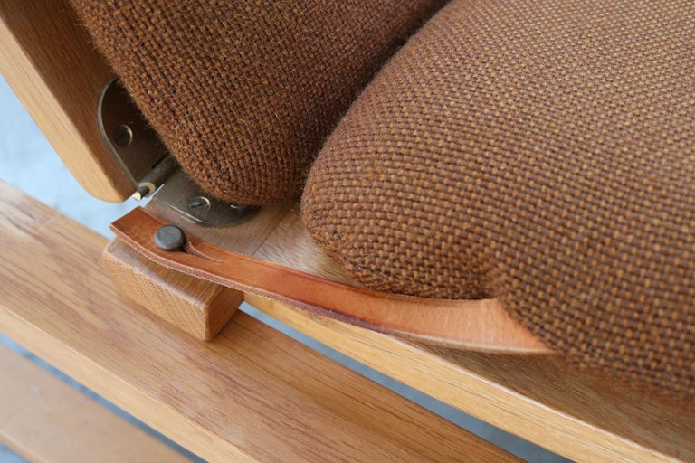 Rare Pair of Model 2254 Lounge Chairs by Børge Mogensen with Ottomans 1950s Wool For Sale 6