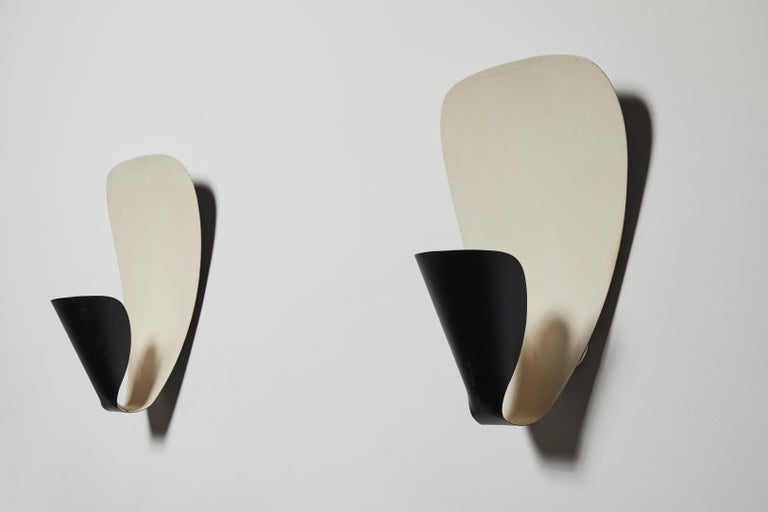 Rare Pair of Model B206 Sconces by Michel Buffet For Sale 2