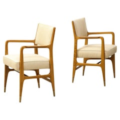 Rare Pair of Open Armchairs by Gio Ponti