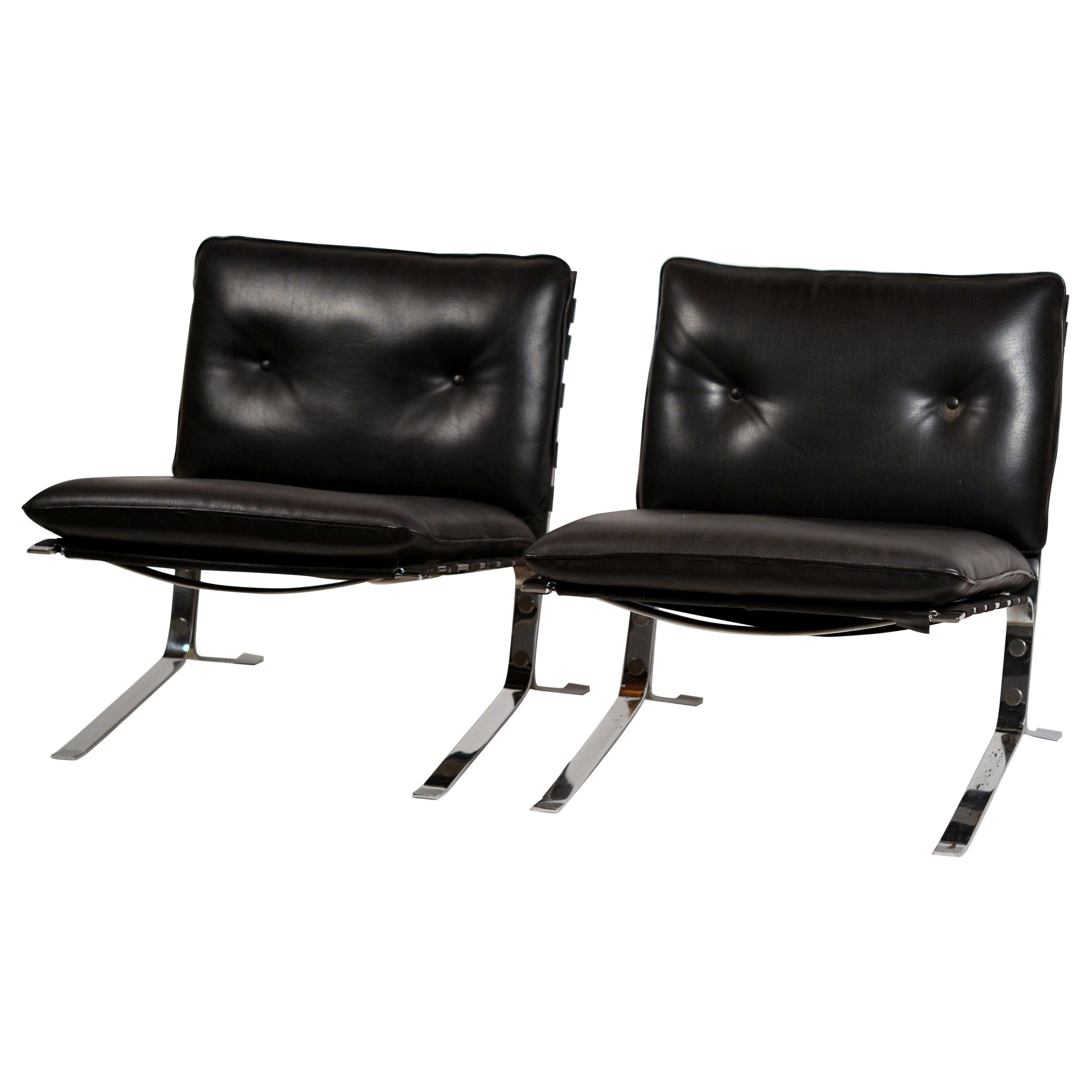 Rare Pair of Original 'Joker' Lounge Chairs by Olivier Mourgue for Airborne