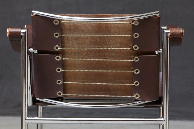 Rare Pair of Original Le Corbusier 'Corbu' Chairs 'LC1', from Wohnbedarf 1960s 3