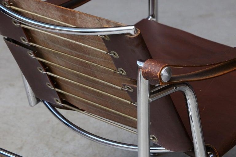 Rare Pair of Original Le Corbusier 'Corbu' Chairs 'LC1', from Wohnbedarf 1960s 4