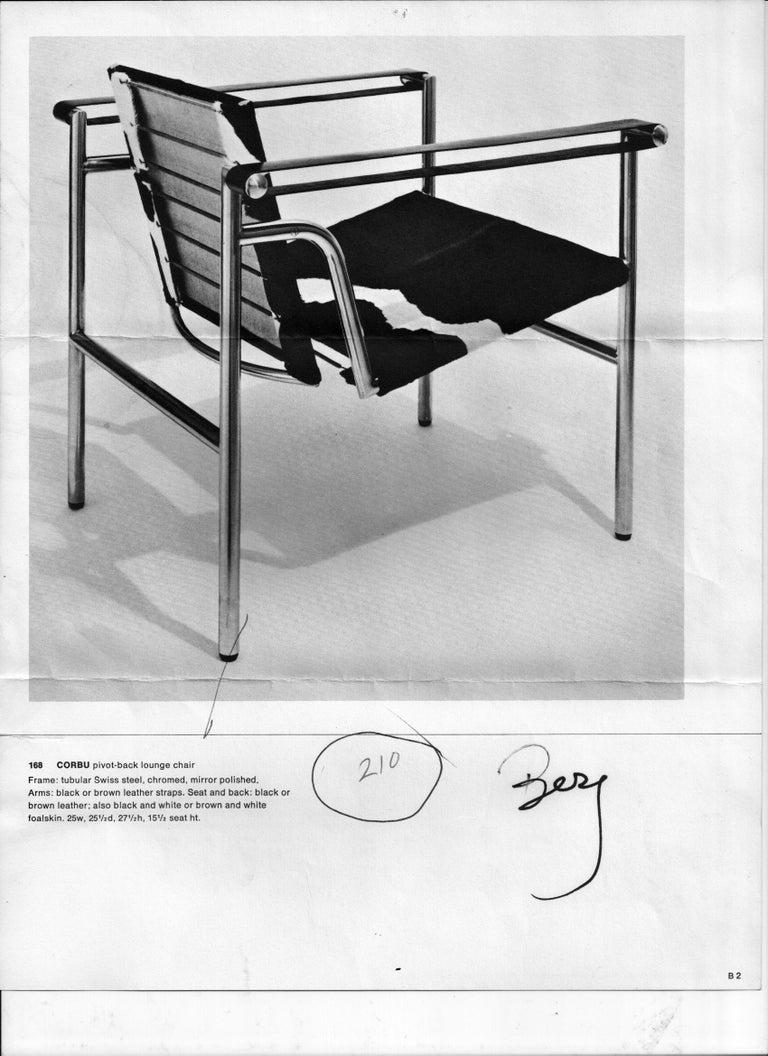 Rare Pair of Original Le Corbusier 'Corbu' Chairs 'LC1', from Wohnbedarf 1960s 12