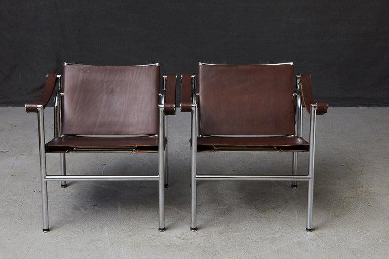 Bauhaus Rare Pair of Original Le Corbusier 'Corbu' Chairs 'LC1', from Wohnbedarf 1960s