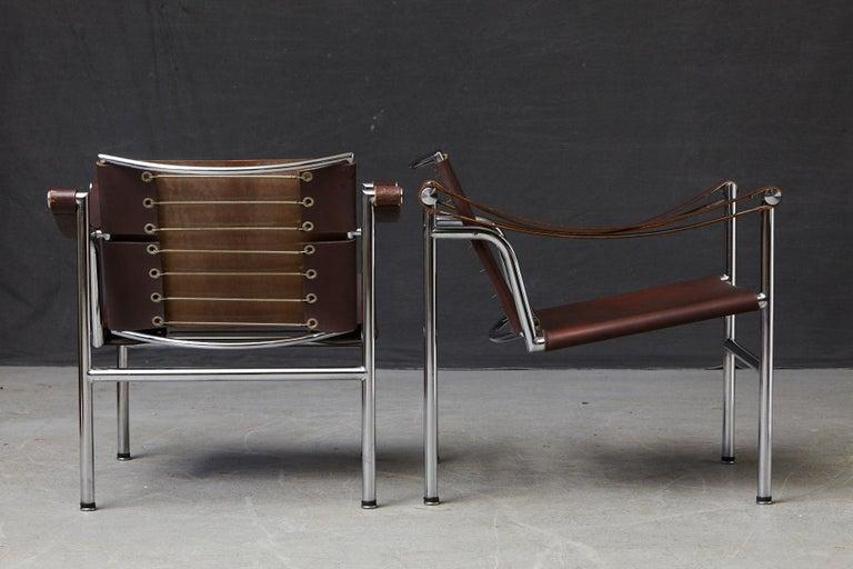 Rare Pair of Original Le Corbusier 'Corbu' Chairs 'LC1', from Wohnbedarf 1960s 1