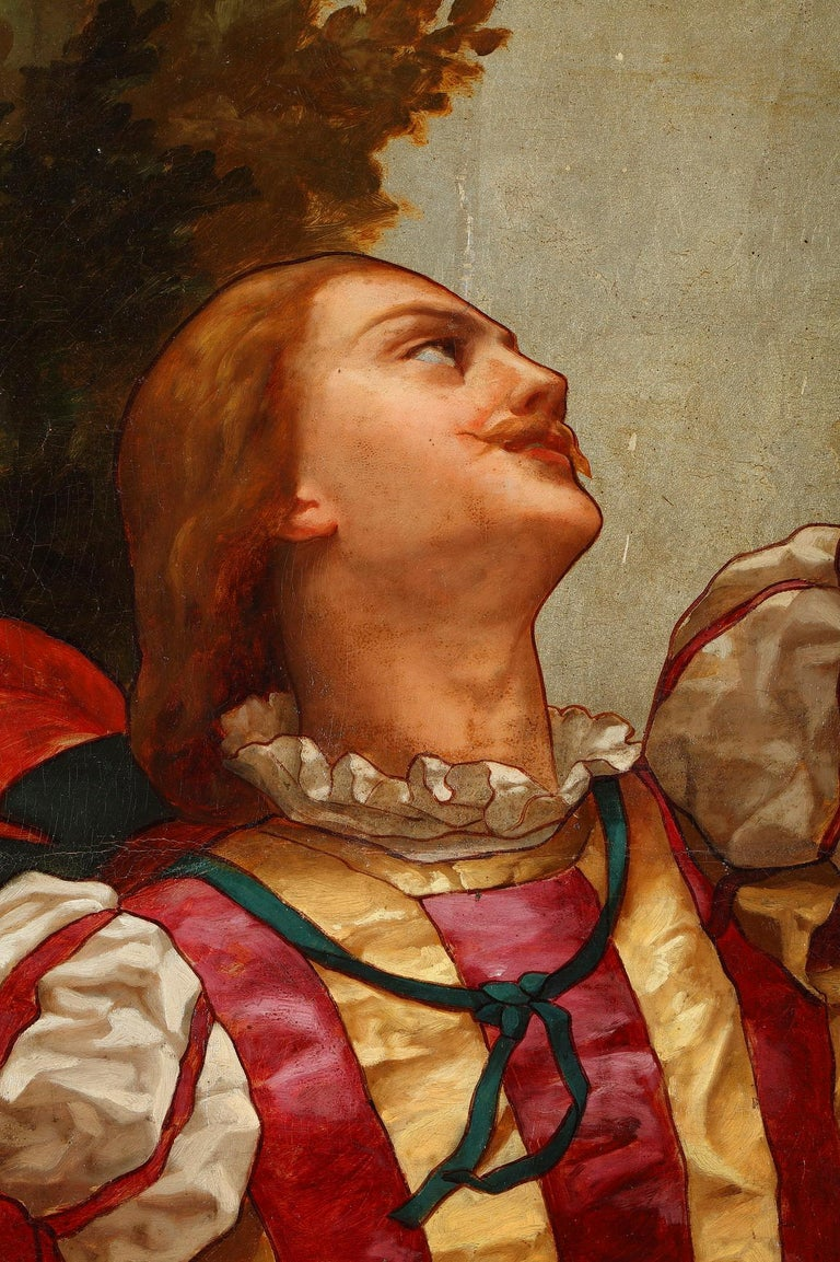 Late 19th Century Rare Pair of Paintings