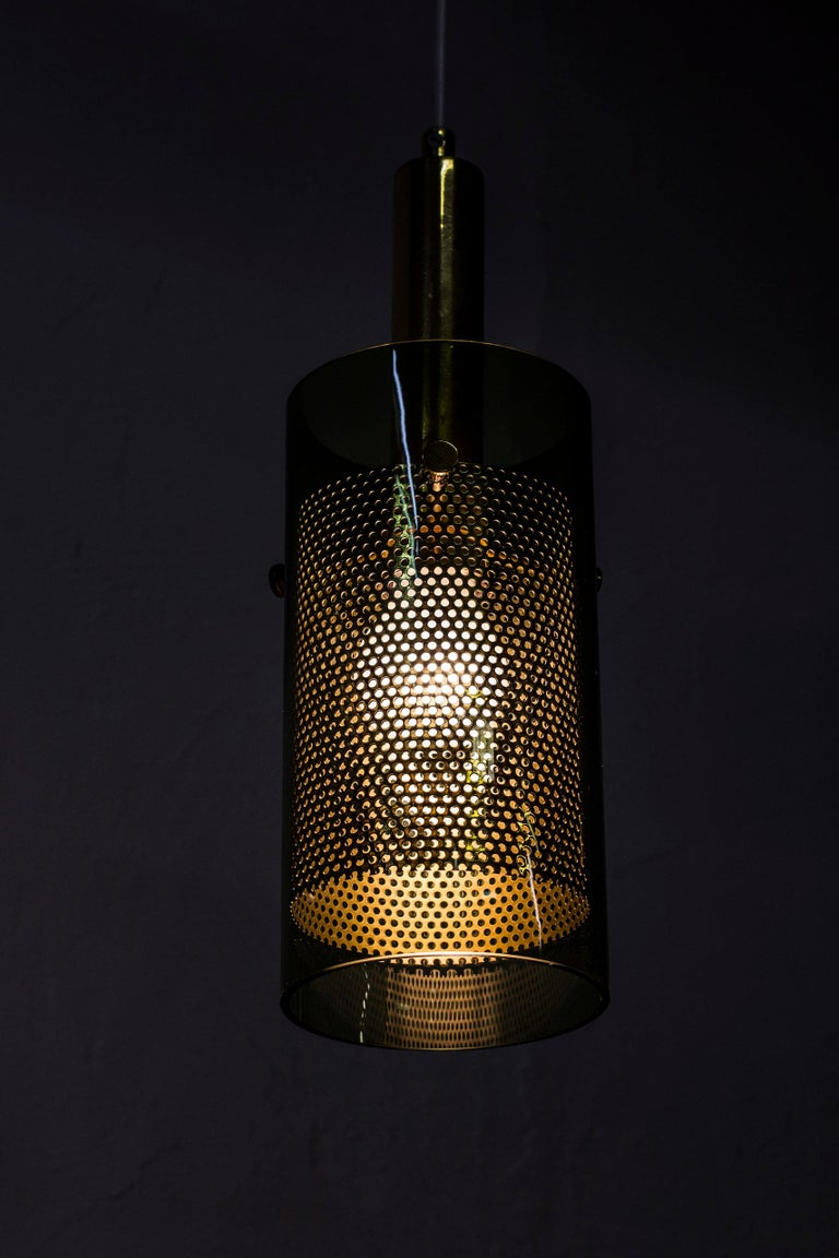 Rare Pair of Pendant Lamps by Hans Agne Jakobsson, Sweden, 1960s For Sale 8