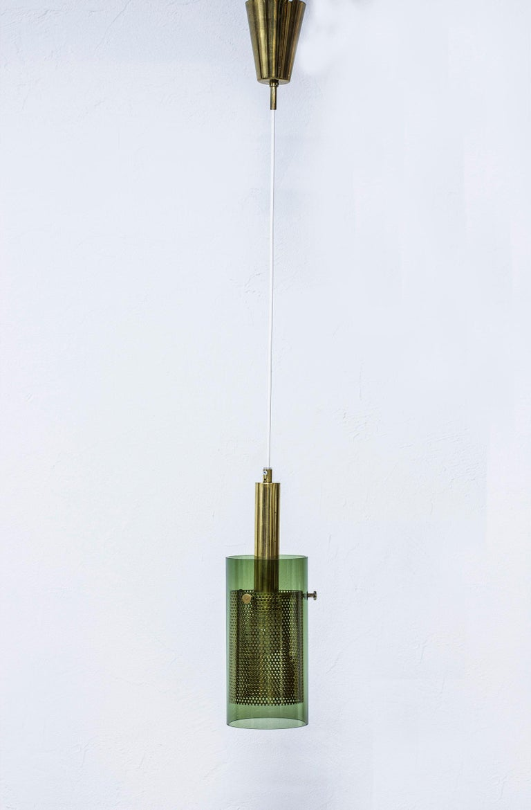 Brass Rare Pair of Pendant Lamps by Hans Agne Jakobsson, Sweden, 1960s For Sale
