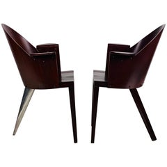 Rare Pair of Philippe Starck Armchairs from the Royalton Hotel, NYC