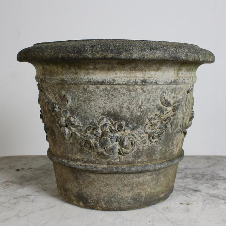 Fired Rare Pair of Pulham of Broxbourne Terracotta Garden 'Cirencester' Pots For Sale