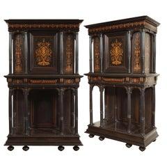 Rare Pair of Renaissance Revival Cabinet F. Linke